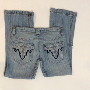 Antik Denim - light wash boot cut jeans. Size 29.